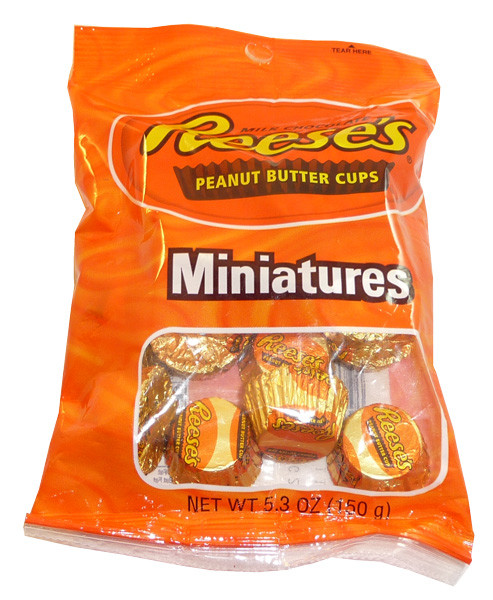 Reeses Peanut Butter Cups - Miniatures, by Reeses,  and more Confectionery at The Professors Online Lolly Shop. (Image Number :3568)