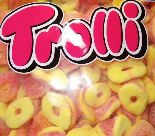 Trolli Sour Peach Rings, by Trolli,  and more Confectionery at The Professors Online Lolly Shop. (Image Number :7891)