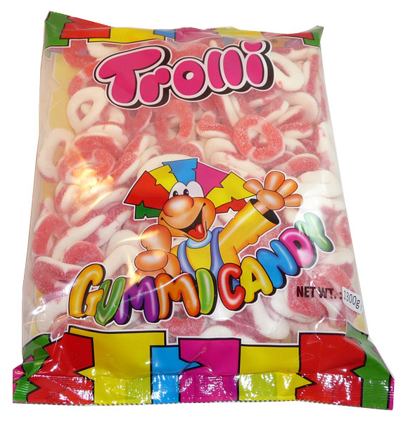 Trolli Strawberry Rings, by Trolli,  and more Confectionery at The Professors Online Lolly Shop. (Image Number :3505)