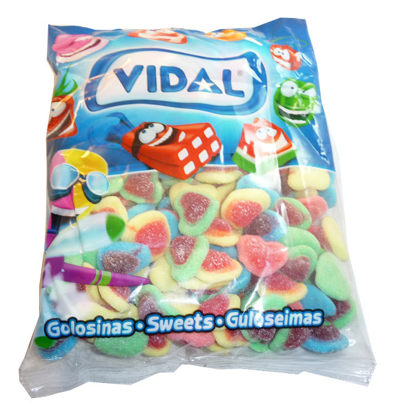 Vidal Hearts, by vidal,  and more Confectionery at The Professors Online Lolly Shop. (Image Number :3595)