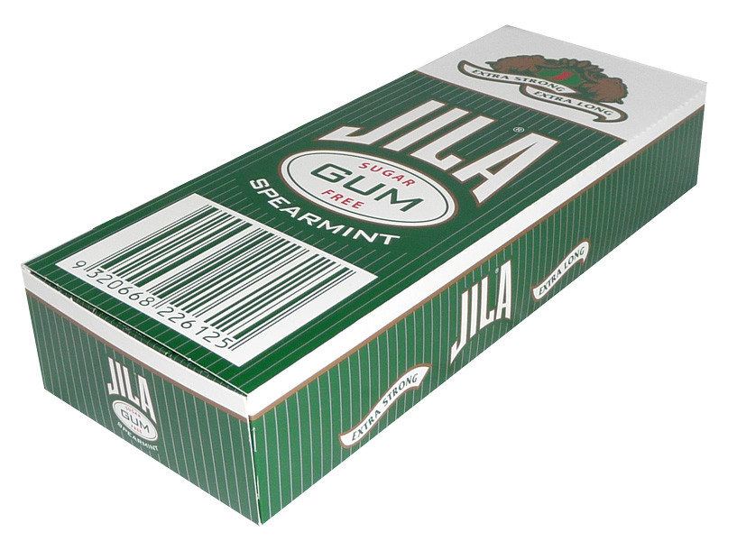 Jila Sugar Free Gum - Spearmint, by Ferndale Confectionery/Jila,  and more Confectionery at The Professors Online Lolly Shop. (Image Number :3695)