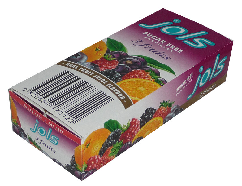 Jols Sugar Free Pastilles - 3 Fruits, by Jols,  and more Confectionery at The Professors Online Lolly Shop. (Image Number :3699)
