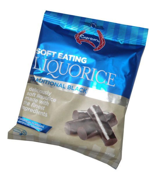 Capricorn Soft Eating Liquorice, by Betta Foods,  and more Confectionery at The Professors Online Lolly Shop. (Image Number :4783)