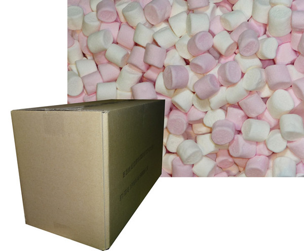 Betta Mini Pink and White Marshmallows, by Betta Foods,  and more Confectionery at The Professors Online Lolly Shop. (Image Number :6146)