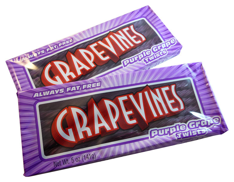 Grape Vines - Purple Grape Twists, by American Licorice Co,  and more Confectionery at The Professors Online Lolly Shop. (Image Number :3610)