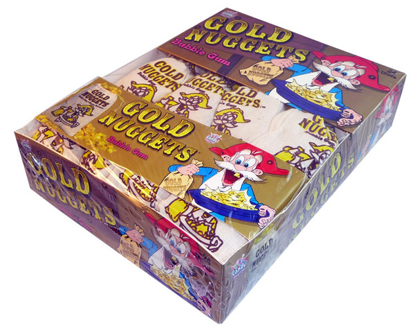 Gold Nugget Bubble Gum, by Universal Candy,  and more Confectionery at The Professors Online Lolly Shop. (Image Number :3960)