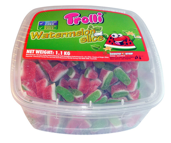 Trolli Watermelon Slice Tub, by Trolli,  and more Confectionery at The Professors Online Lolly Shop. (Image Number :4008)