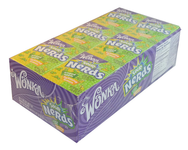 Willy Wonka Sour Nerds - Amped Apple and Lightning Lemon, by Wonka,  and more Confectionery at The Professors Online Lolly Shop. (Image Number :3755)
