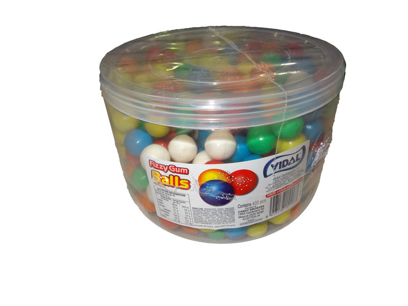 Vidal Fizzy Gum Balls -  20mm, by vidal,  and more Confectionery at The Professors Online Lolly Shop. (Image Number :4639)