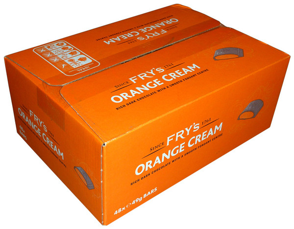Fry s Orange Cream, by Cadbury,  and more Confectionery at The Professors Online Lolly Shop. (Image Number :3959)