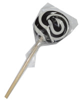 Round Black and White Lollipop, by Designer Candy,  and more Confectionery at The Professors Online Lolly Shop. (Image Number :4569)