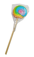 Round Rainbow Lollipop, by Designer Candy,  and more Confectionery at The Professors Online Lolly Shop. (Image Number :4894)