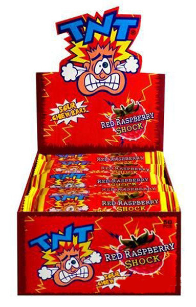 TNT Shocks - Red Raspberry, by TNT,  and more Confectionery at The Professors Online Lolly Shop. (Image Number :7446)