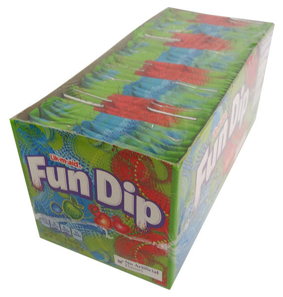 Lik-m-aid Fun Dip, by Wonka,  and more Confectionery at The Professors Online Lolly Shop. (Image Number :14118)