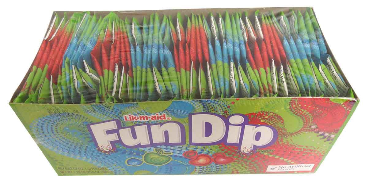 Lik-m-aid Fun Dip, by Wonka,  and more Confectionery at The Professors Online Lolly Shop. (Image Number :14119)