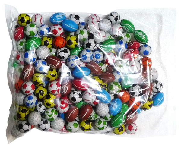 Choc Sports Balls, by Kingsway/Other,  and more Confectionery at The Professors Online Lolly Shop. (Image Number :4219)
