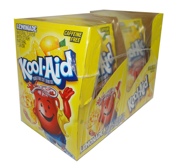 Kool Aid Pack  - Lemonade flavour, by Kool Aid,  and more Beverages at The Professors Online Lolly Shop. (Image Number :4656)