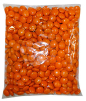 Choc Drops - Orange Single Colour Smarties clones, by Confectionery House,  and more Confectionery at The Professors Online Lolly Shop. (Image Number :8298)