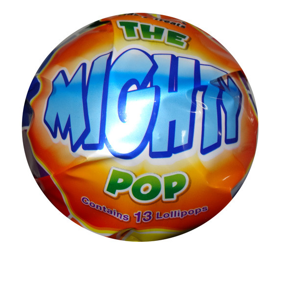 The Mighty Pop - 13 lollipops in a big plastic lollipop, by Other/Tasty Treats,  and more Confectionery at The Professors Online Lolly Shop. (Image Number :4959)