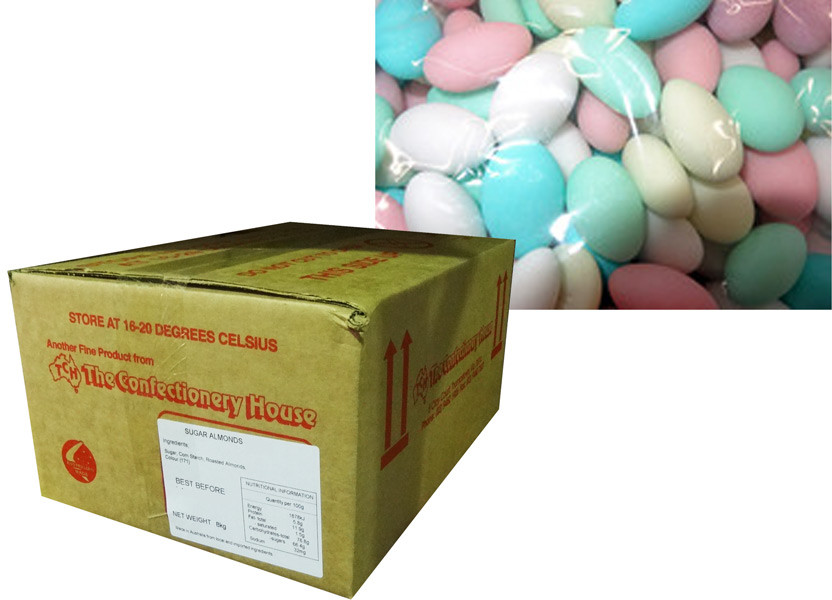 Sugar Coated Almonds - Mixed Colour, by Confectionery House,  and more Confectionery at The Professors Online Lolly Shop. (Image Number :8790)