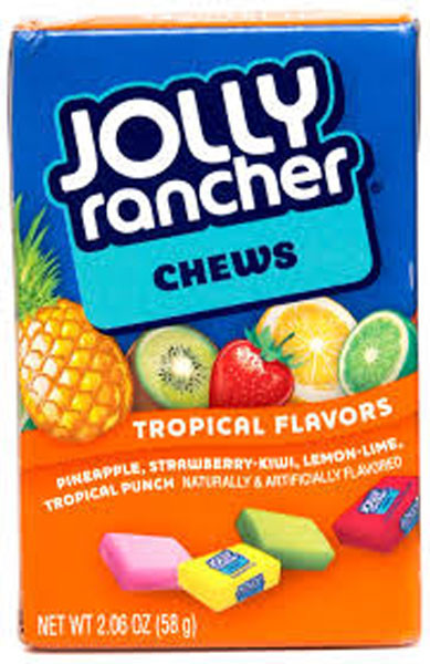 Jolly Rancher Tropical Chews, by Jolly Rancher,  and more Confectionery at The Professors Online Lolly Shop. (Image Number :6508)