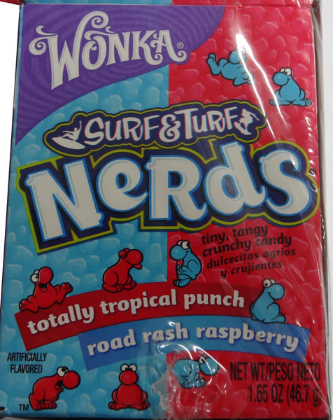Willy Wonka Surf and Turf Nerds - Tropical Punch & Road Rash, by Wonka,  and more Confectionery at The Professors Online Lolly Shop. (Image Number :4900)