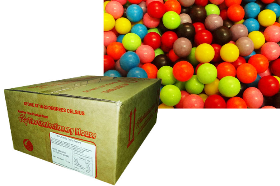 Choc Rainbow Balls, by Confectionery Trading Company,  and more Confectionery at The Professors Online Lolly Shop. (Image Number :10046)