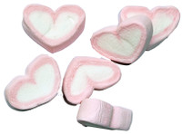 Heart Shaped Pink and White Marshmallows, by AllFect Distributors,  and more Confectionery at The Professors Online Lolly Shop. (Image Number :4253)