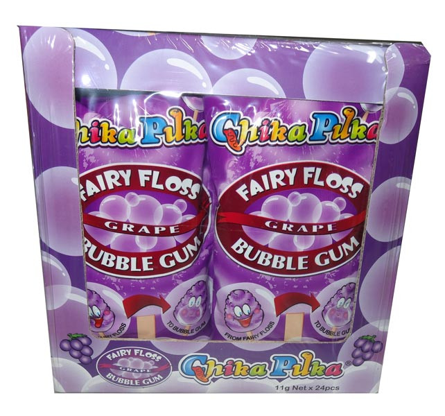 Chika Puka - Fairy Floss Gum - grape flavour, by Candy Brokers,  and more Confectionery at The Professors Online Lolly Shop. (Image Number :4651)