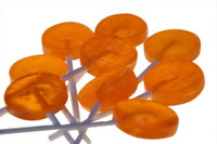 Single Colour Lollipops - Orange - Tutti-Frutti Flavour, by Budget Sweets/Other,  and more Confectionery at The Professors Online Lolly Shop. (Image Number :4266)