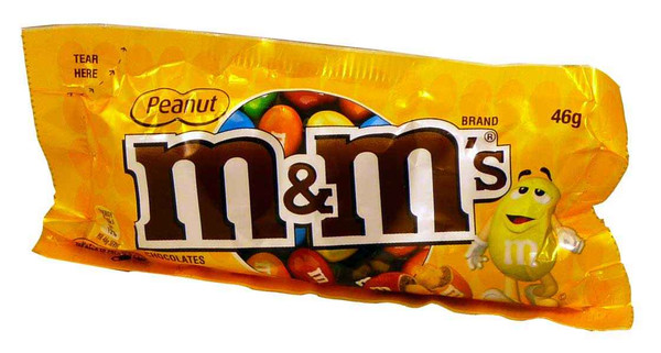 M&M Peanut, by Mars,  and more Confectionery at The Professors Online Lolly Shop. (Image Number :4285)