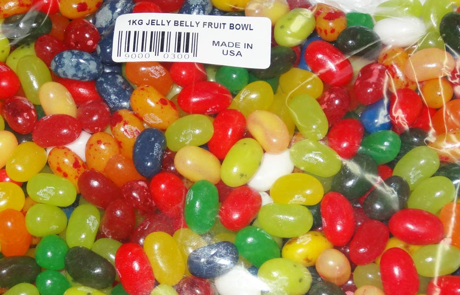 Jelly Belly - Gourmet Jelly Beans - Fruit Bowl, by Jelly Belly,  and more Confectionery at The Professors Online Lolly Shop. (Image Number :4796)