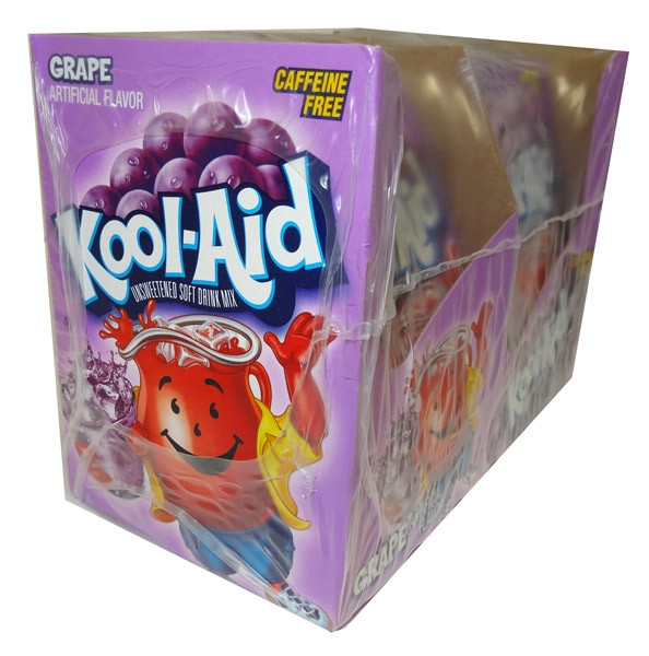 Kool Aid Pack  - Grape, by Kool Aid,  and more Beverages at The Professors Online Lolly Shop. (Image Number :4682)