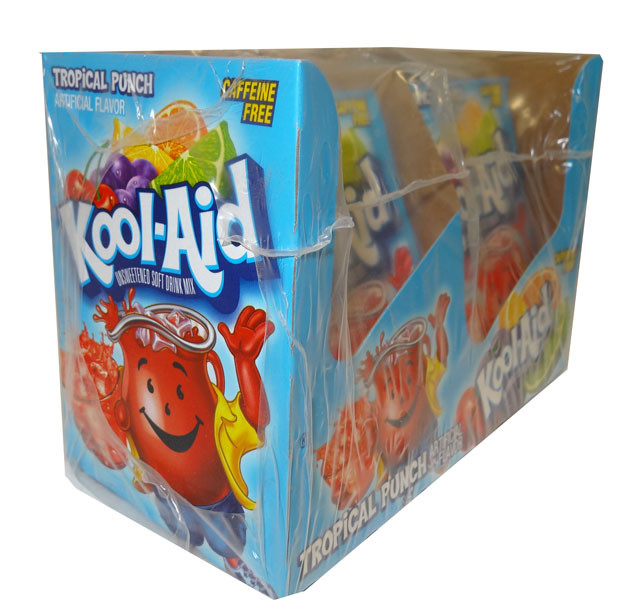 Kool Aid Pack  - Tropical Punch, by Kool Aid,  and more Beverages at The Professors Online Lolly Shop. (Image Number :4685)