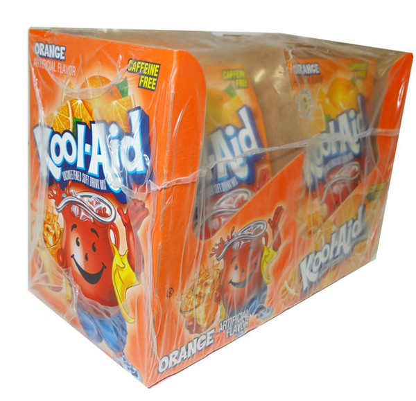 Kool Aid Pack  - Orange, by Kool Aid,  and more Beverages at The Professors Online Lolly Shop. (Image Number :4654)