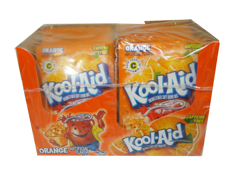 Kool Aid Pack  - Orange, by Kool Aid,  and more Beverages at The Professors Online Lolly Shop. (Image Number :4655)
