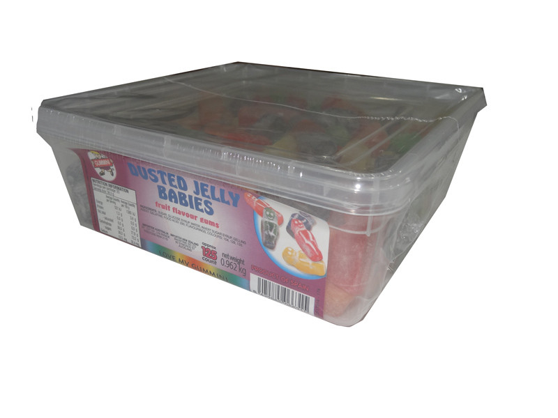 Gummini Dusted Jelly Babies, by AIT Confectionery,  and more Confectionery at The Professors Online Lolly Shop. (Image Number :4801)