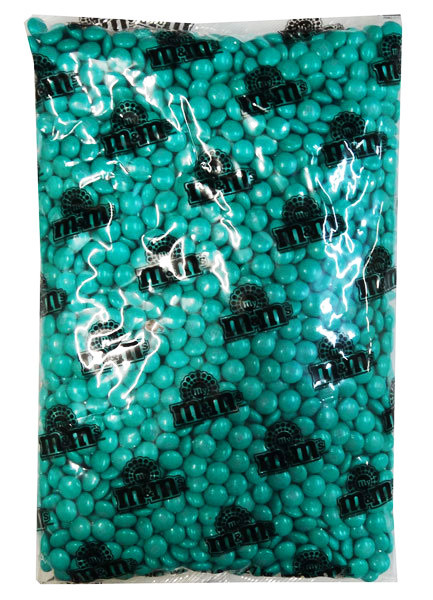 Single Colour M&M s - Teal, by Mars,  and more Confectionery at The Professors Online Lolly Shop. (Image Number :10962)