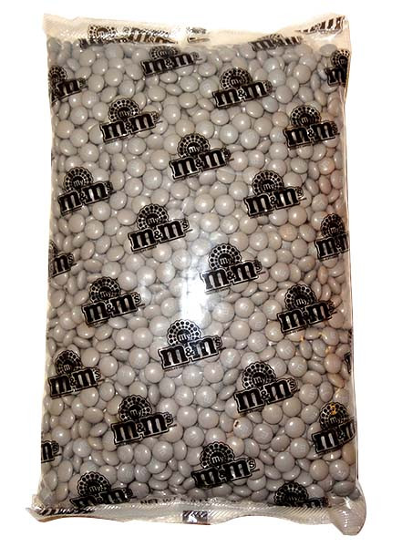 Single Colour M&M s - Silver, by Mars,  and more Confectionery at The Professors Online Lolly Shop. (Image Number :10578)