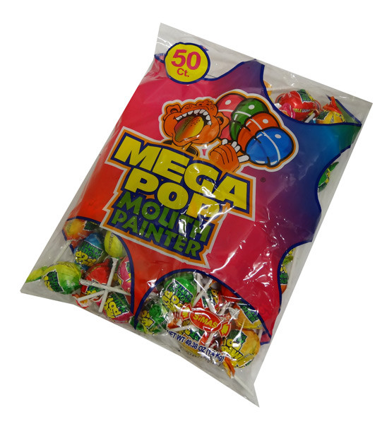 Mega Pop Mouth Painter, by AIT Confectionery,  and more Confectionery at The Professors Online Lolly Shop. (Image Number :4408)