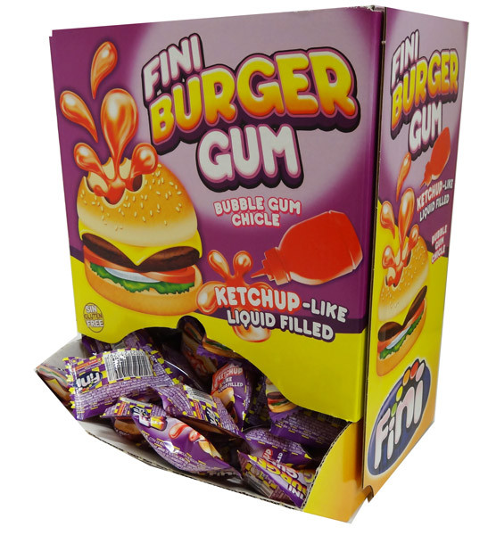 Fini Burger Gum, by Fini,  and more Confectionery at The Professors Online Lolly Shop. (Image Number :4383)