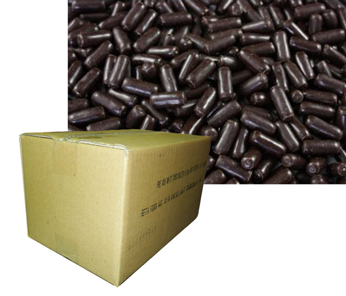 Betta Foods Dark Choc Liquorice Bullets, by Betta Foods,  and more Confectionery at The Professors Online Lolly Shop. (Image Number :6129)
