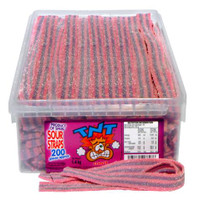 TNT Sour Straps Cherry, by TNT,  and more Confectionery at The Professors Online Lolly Shop. (Image Number :4661)