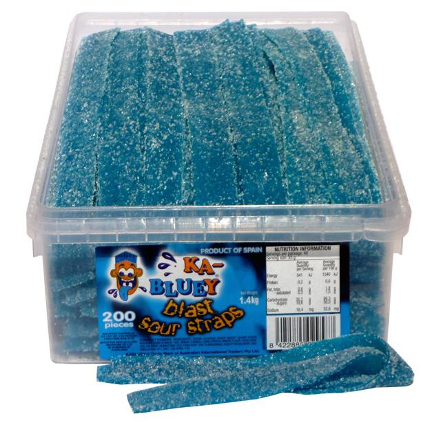 TNT Sour Straps Ka-Bluey, by TNT,  and more Confectionery at The Professors Online Lolly Shop. (Image Number :4675)