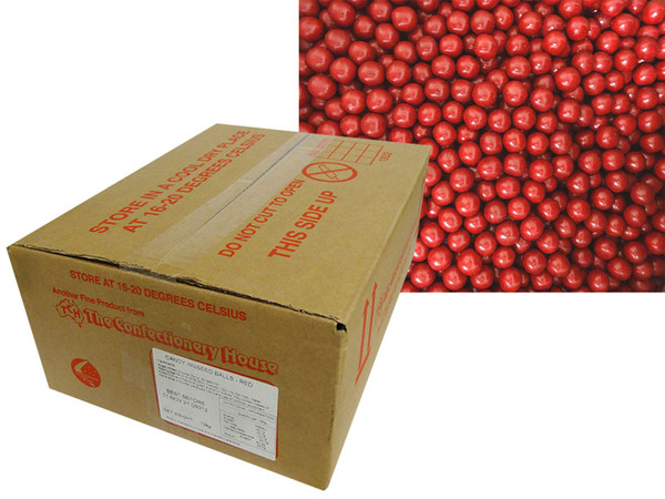 Aniseed Balls - Red, by Confectionery House,  and more Confectionery at The Professors Online Lolly Shop. (Image Number :14100)