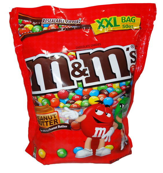 M&M Peanut Butter Chocolate Candies, by Mars,  and more Confectionery at The Professors Online Lolly Shop. (Image Number :4699)