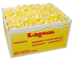 Sherbet Lemons, by Lagoon Confectionery,  and more Confectionery at The Professors Online Lolly Shop. (Image Number :11520)