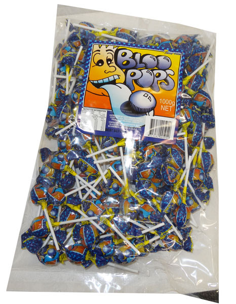 Bloo Pops, by Tasty Treats,  and more Confectionery at The Professors Online Lolly Shop. (Image Number :4724)