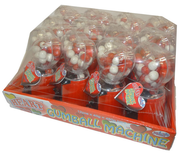 Heart Gumball Machine, by Lolly Mania/Other,  and more Confectionery at The Professors Online Lolly Shop. (Image Number :4730)