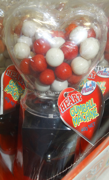 Heart Gumball Machine, by Lolly Mania/Other,  and more Confectionery at The Professors Online Lolly Shop. (Image Number :4731)